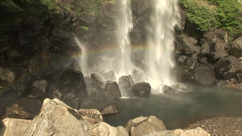 Jeongbang Waterfall Stock Video Footage