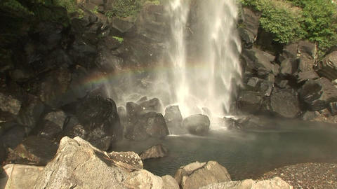 Jeongbang Waterfall Stock Video Footage