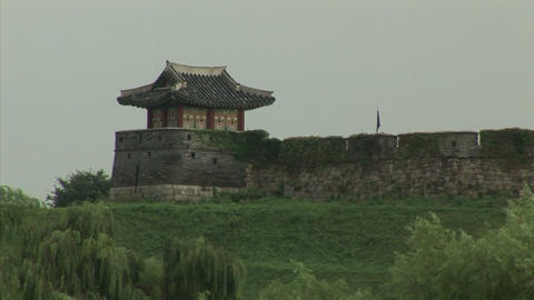 Suwon Hwaseong Fortress Stock Video Footage