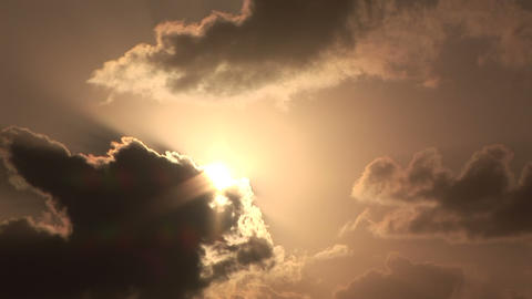 The sun peeking through the clouds Stock Video Footage