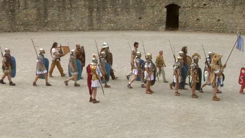 roman gaul arena 02 Stock Video Footage
