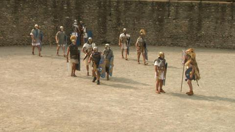 roman gaul arena 06 Stock Video Footage