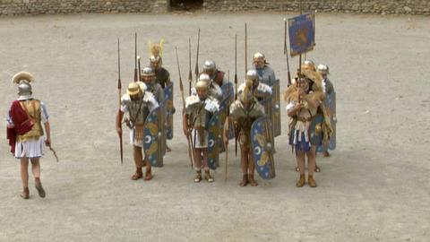 roman praetorian 01 Stock Video Footage