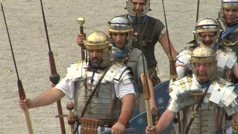 roman praetorian 03 Stock Video Footage