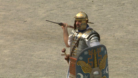 roman praetorian 05 Stock Video Footage