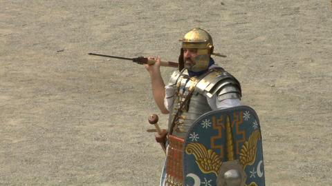roman praetorian 05 Stock Video Footage