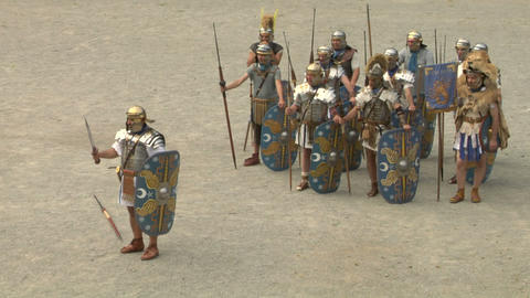 roman praetorian 07 Stock Video Footage