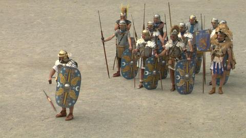 roman praetorian 07 Stock Video Footage