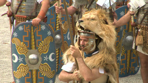 roman praetorian 09 Stock Video Footage