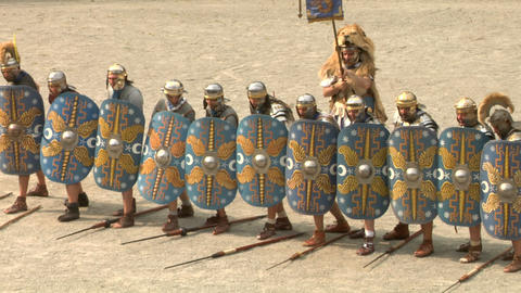 roman praetorian deployment 05 Stock Video Footage