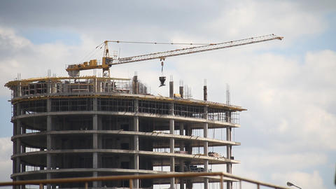 Construction of buildings Stock Video Footage