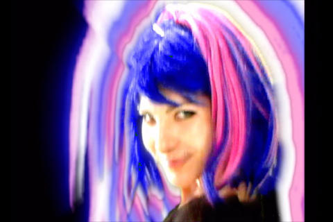 Blue Pink Aura Girl Stock Video Footage