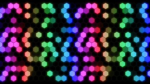 Hexagon 3 Aa 4 HD Stock Video Footage