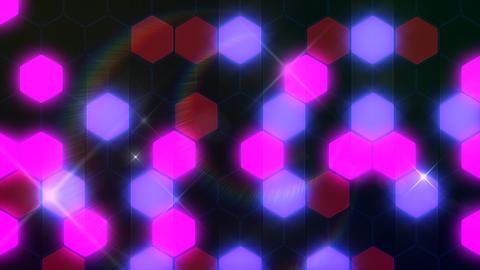 Hexagon 3 Ba 2 Flash HD Stock Video Footage