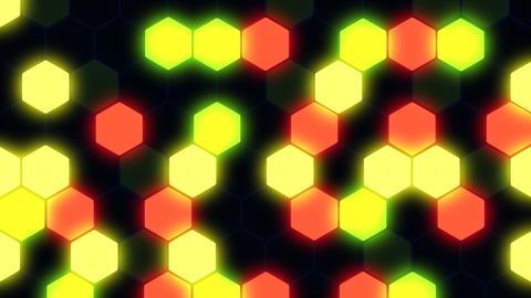 Hexagon 3 Ba 3 HD Stock Video Footage