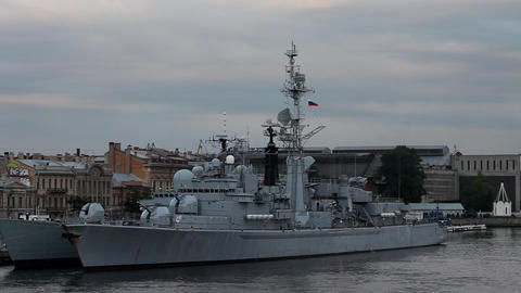 frigate Stock Video Footage