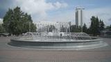 Krasnoyarsk City Fountain 01 Footage