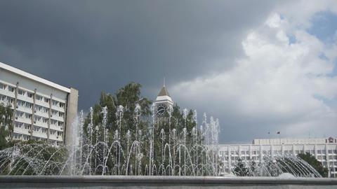 Krasnoyarsk City Fountain 03 Stock Video Footage