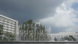 Krasnoyarsk City Fountain 03 Footage