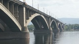 Bridge Over Yenisei River 03 Footage