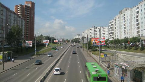 Krasnoyarsk City Traffic Timelapse Stock Video Footage