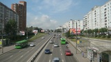 Krasnoyarsk City Traffic Timelapse Footage