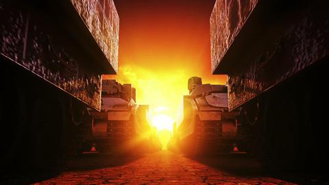 Military Tanks, Seamless Loop Animation