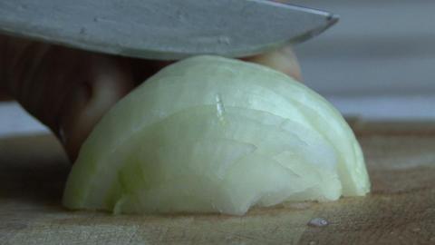 Food - Slicing Onions, Hd Footage