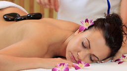 Hot Stone Massage stock footage