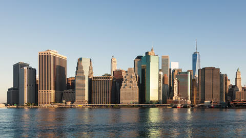 4k Sunrise timelapse of Manhattan skyline in new york - USA Footage