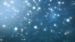 Moving Gloss Particles On Blue Background Animation