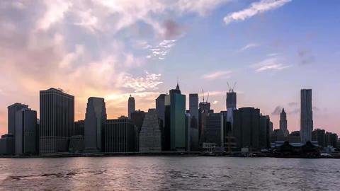Night fall timelapse of Manhattan in New York - USA Footage