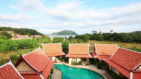 Tropical resort landscape Footage