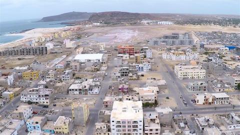 Aerial view of Sal Rei city in Boavista Cape Verde - Cabo Verde Footage
