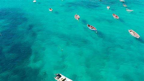 Aerial view of Santa Maria beach in Sal Cape Verde - Cabo Verde Footage