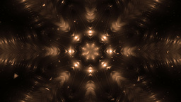 Abstract Orange Background Fractal Snowflakes Animation