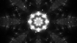 Abstract Silver Background Fractal Snowflakes Animation