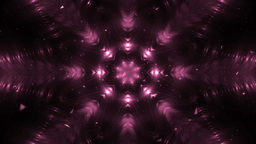 Abstract Pink Background Fractal Snowflakes Animation