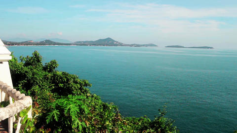 Thailand, Samui. Lookout Point, view of beach area Footage