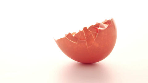 Raw egg isolated on white Footage