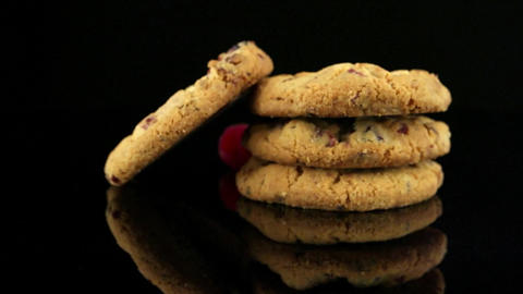 Dried Fruits Chip Cookies stock footage