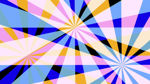 Retro Pinwheels Psychedelic Hypnotic VJ Background loop 1 pastel Animation