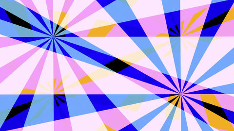 Retro Pinwheels Psychedelic Hypnotic VJ Background loop 4 pastel Animation
