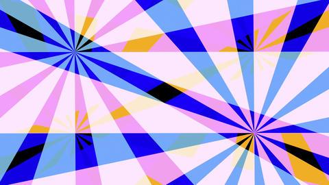 Retro Pinwheels Psychedelic Hypnotic VJ Background Loop 4 Pastel stock footage
