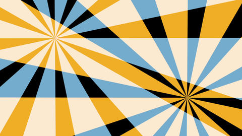 Retro Pinwheels Psychedelic Hypnotic VJ Background loop 6 yellow Animation