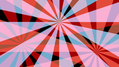 Retro Pinwheels Psychedelic Hypnotic VJ Background loop 8 red Animation