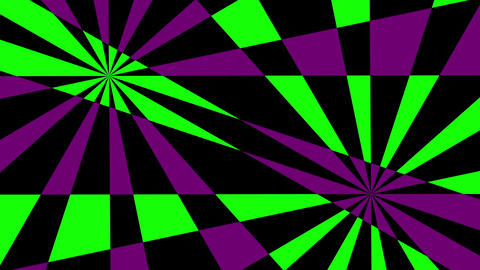 Retro Pinwheels Psychedelic Hypnotic VJ Background loop 11 green purple Animation