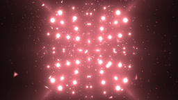 Abstract Red Background Fractal Sun. VJ Loops Animation