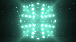Abstract Neon Background Fractal Sun. VJ Loops Animation