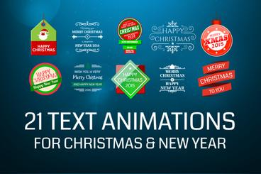 21 Text Templates For Christmas And New Year After Effects Project